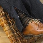 detail naadrits spijkerbroek